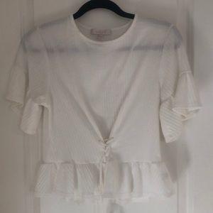Tops - White peplum blouse